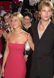 brad pitt et Jennifer Aniston ( son ex,femme )
